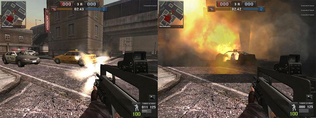 ポイントブランク(POINT BLANK)車を爆破させて敵を攻撃