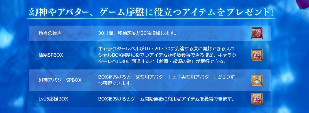 幻想神域-Cross to Fate- 初心者特典詳細イメージ