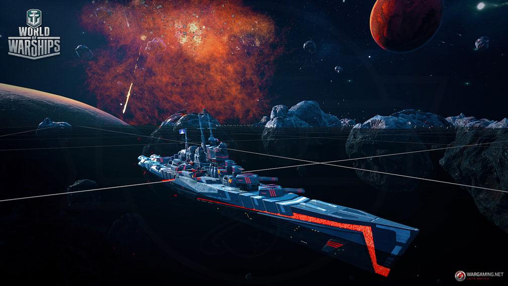 ワールドオブウォーシップス World of Warships (WoWs) エイプリルフールイベントとして期間限定で実装されたゲームモード『宇宙戦』スクリーンショット