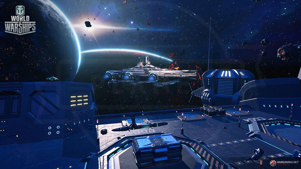 ワールドオブウォーシップス World of Warships (WoWs) ゲームモード『宇宙戦』のフィールドスクリーンショット