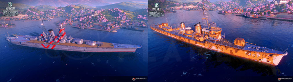 ワールドオブウォーシップス World of Warships (WoWs) TVアニメ『ハイスクール・フリート』コラボレーションスクリーンショット