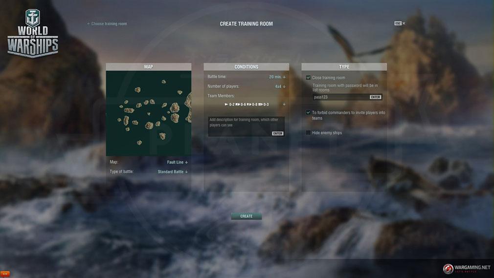 ワールドオブウォーシップス World of Warships (WoWs) トレーニングルームスクリーンショット