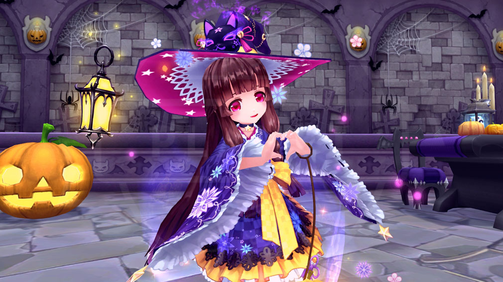 幻想神域-Cross to Fate- ハロウィン衣装に身を包んだ幻神『いたずら妖女 ざしきわらし』スクリーンショット