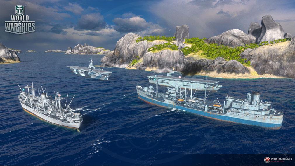 ワールドオブウォーシップス World of Warships (WoWs) 入り組んだ海上のスクリーンショット