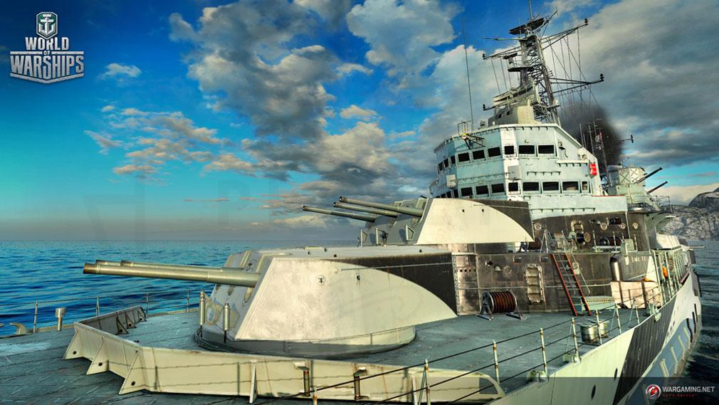 ワールドオブウォーシップス World of Warships (WoWs) イギリス戦艦『ベルファスト』スクリーンショット