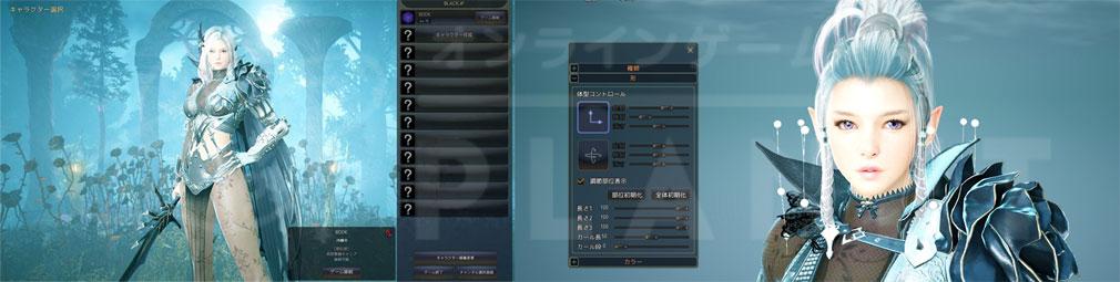 黒い砂漠 ダークナイトキャラクター拡張画面