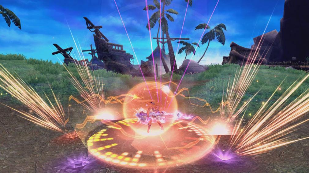 幻想神域-Cross to Fate- 新職業『ギター』スキル発動スクリーンショット