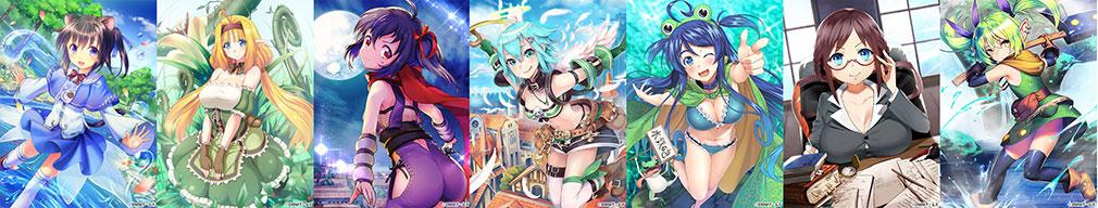 X-Overdキャラクター リリィ、フリージア、サヤ、クピカ、フェリス、スフレ、カルエ
