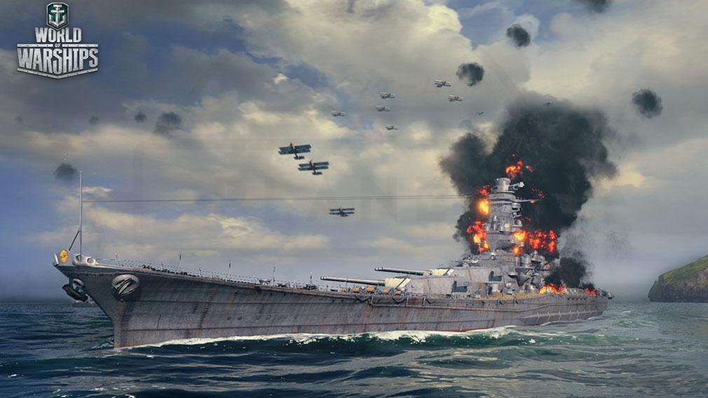 ワールドオブウォーシップス World of Warships (WoWs) 航空母艦バトルスクリーンショット