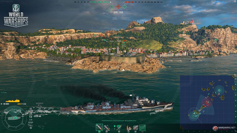 ワールドオブウォーシップス World of Warships (WoWs) 要塞戦スクリーンショット