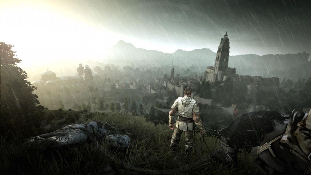 黒い砂漠 雨が降っている時のゲーム内スクリーンショット