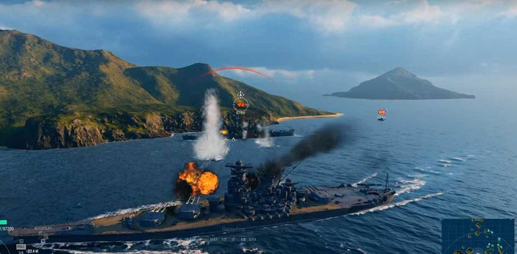 ワールドオブウォーシップス(WoWs)他のプレイヤーの海上戦