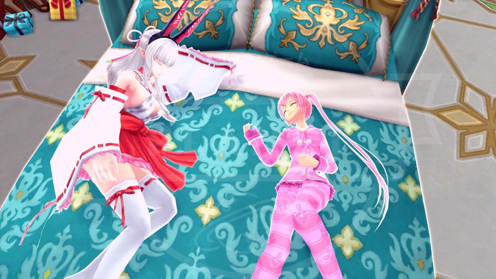 幻想神域-Cross to Fate- 特別なモーションとして『添い寝』スクリーンショット