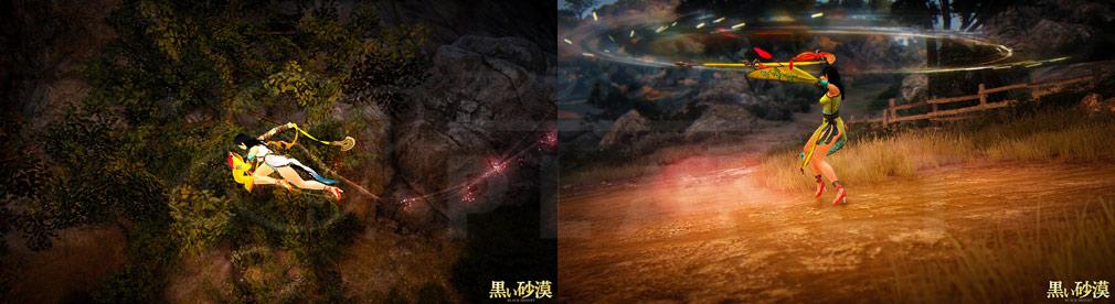 黒い砂漠 新クラス『ラン』の空中滑空やスキルアクションスクリーンショット