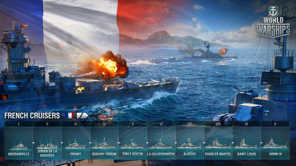 ワールドオブウォーシップス World of Warships (WoWs) フランスの優秀な火力を有する10隻の巡洋艦スクリーンショット
