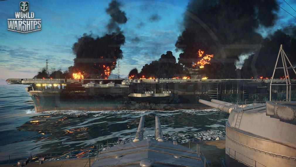 ワールドオブウォーシップス World of Warships (WoWs) 迫力満点の海上バトルスクリーンショット