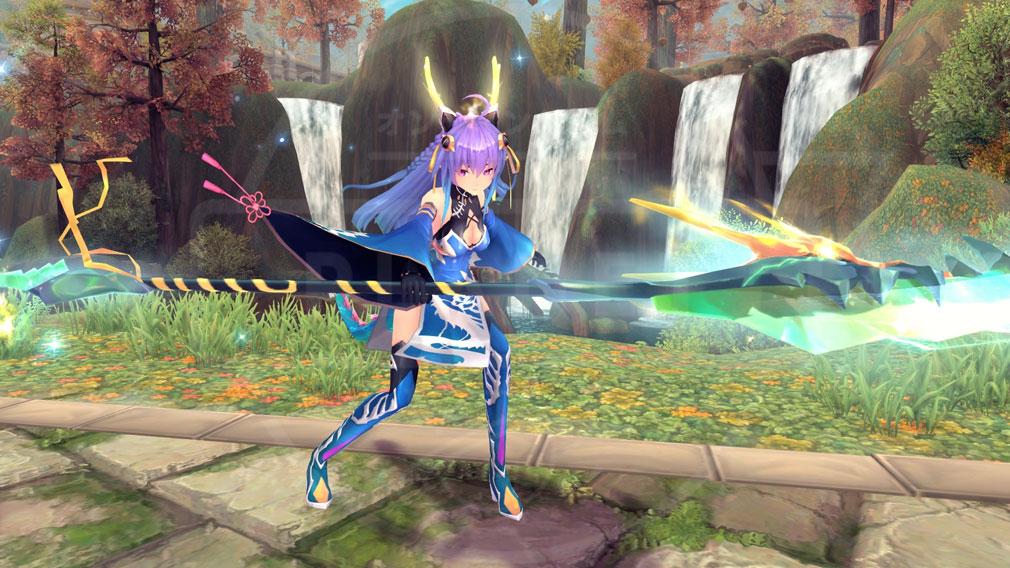 幻想神域-Cross to Fate- 『東方の蒼帝・青龍』の『★3進化スタイル』スクリーンショット