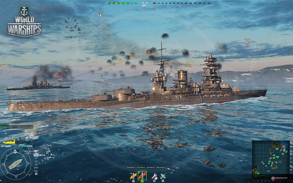 ワールドオブウォーシップス World of Warships (WoWs) プレイヤー同士で対決する通常戦スクリーンショット