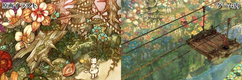 Tree of Savior (ツリーオブセイバー) ToS フィールド原画イラストとゲーム内画像比較
