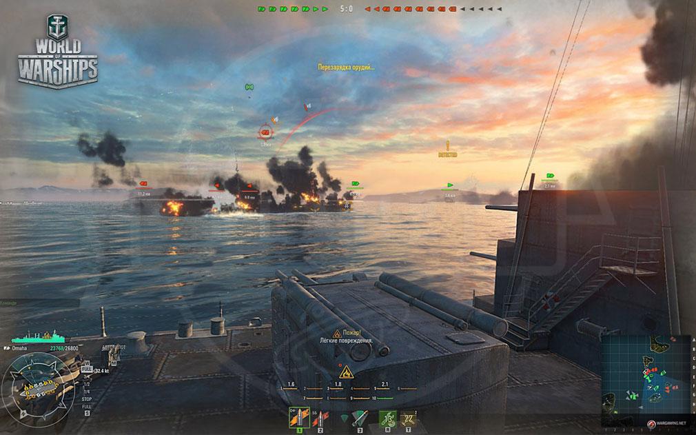 ワールドオブウォーシップス World of Warships (WoWs) 仲間との連携が最重要になる海上バトルスクリーンショット