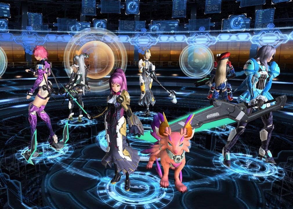PSO2(ファンタシースターオンライン2) クラス選択画面女性版
