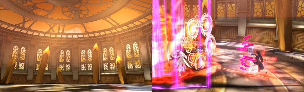 ソウルワーカー(Soulworker) 専用フィールド『スカイクロックパレス』のバトルスクリーンショット