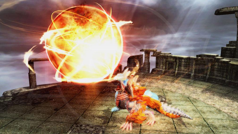 ファンタシースターオンライン2 PHANTASY STAR ONLINE2 (PSO2) 大ボス『灼零龍エルゼリオン』スクリーンショット