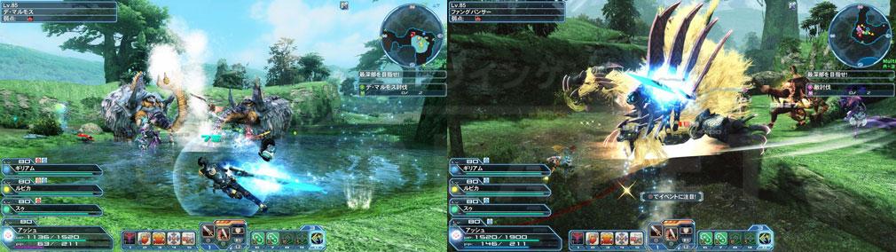ファンタシースターオンライン2 PHANTASY STAR ONLINE2 (PSO2) フリーフィールド『森林探索』に難度XHの強力なエネミースクリーンショット