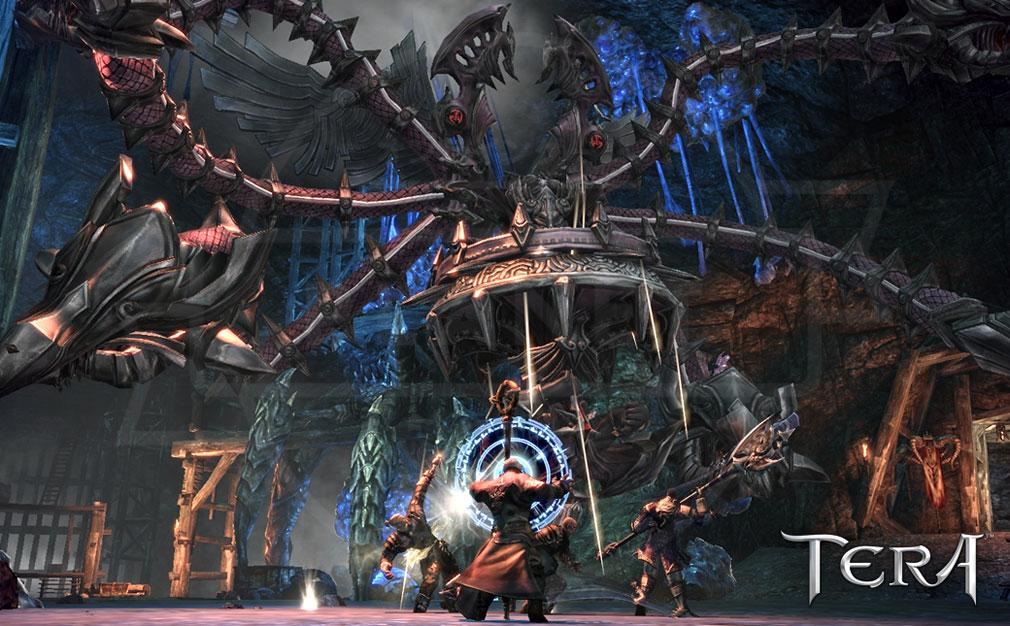 TERA(テラ The Exiled Realm of Arborea) パーティーバトルスクリーンショット