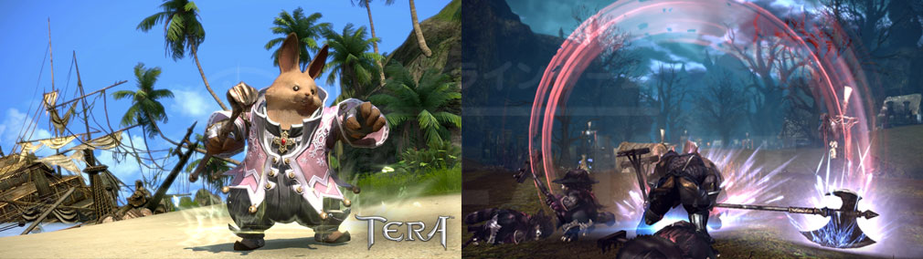 TERA(テラ The Exiled Realm of Arborea) 各種族のバトルスキル発動スクリーンショット