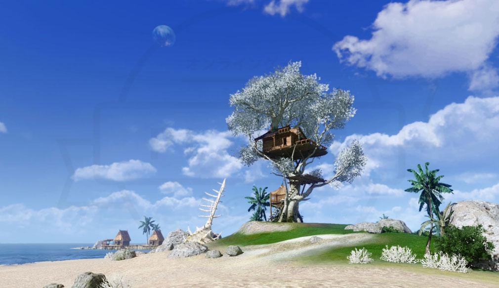 アーキエイジ(ArcheAge) 海辺に建てたツリーハウススクリーンショット