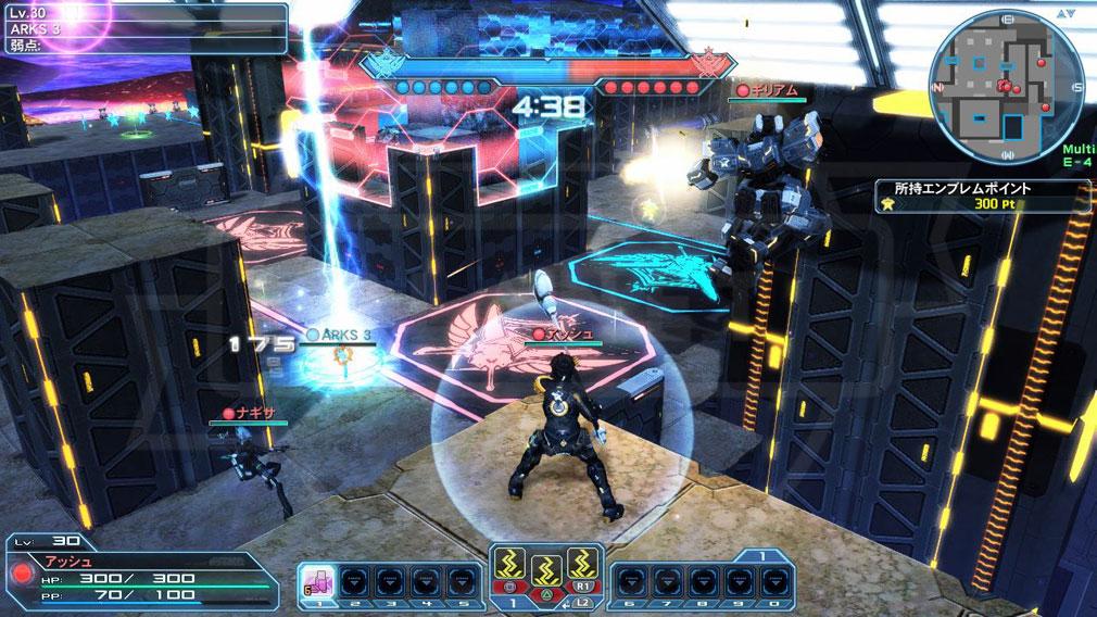 ファンタシースターオンライン2 PHANTASY STAR ONLINE2 (PSO2) バトルアリーナ『エンブレム争奪戦』新ステージ『VRアリーナ(火山:夜)』追加スクリーンショット