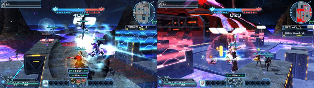 ファンタシースターオンライン2 PHANTASY STAR ONLINE2 (PSO2) 新ステージ『VRアリーナ(火山:夜)』プレイスクリーンショット