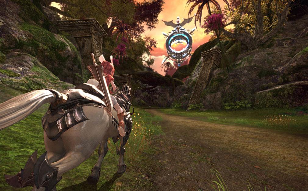 TERA(テラ The Exiled Realm of Arborea) 騎乗スクリーンショット