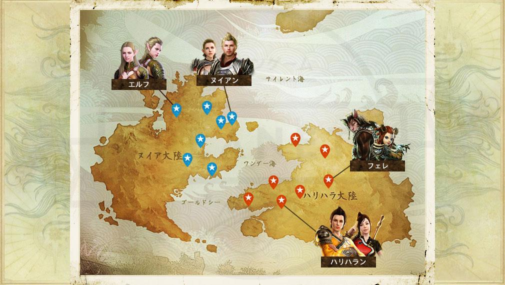 アーキエイジ(ArcheAge) 勢力マップイメージ