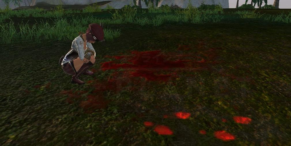 アーキエイジ(ArcheAge) 犯行現場に残った血痕跡のスクリーンショット