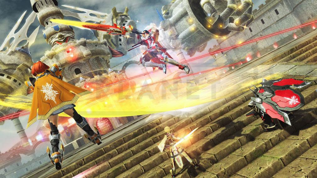 ファンタシースターオンライン2 PHANTASY STAR ONLINE2 (PSO2) 上級クラス『ヒーロー』バトルスクリーンショット