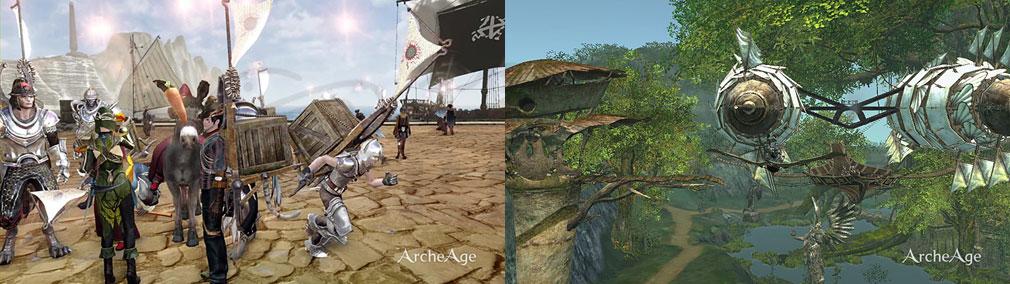 アーキエイジ(ArcheAge) 特産品貿易、空の特産品貿易『巡回飛行船』スクリーンショット