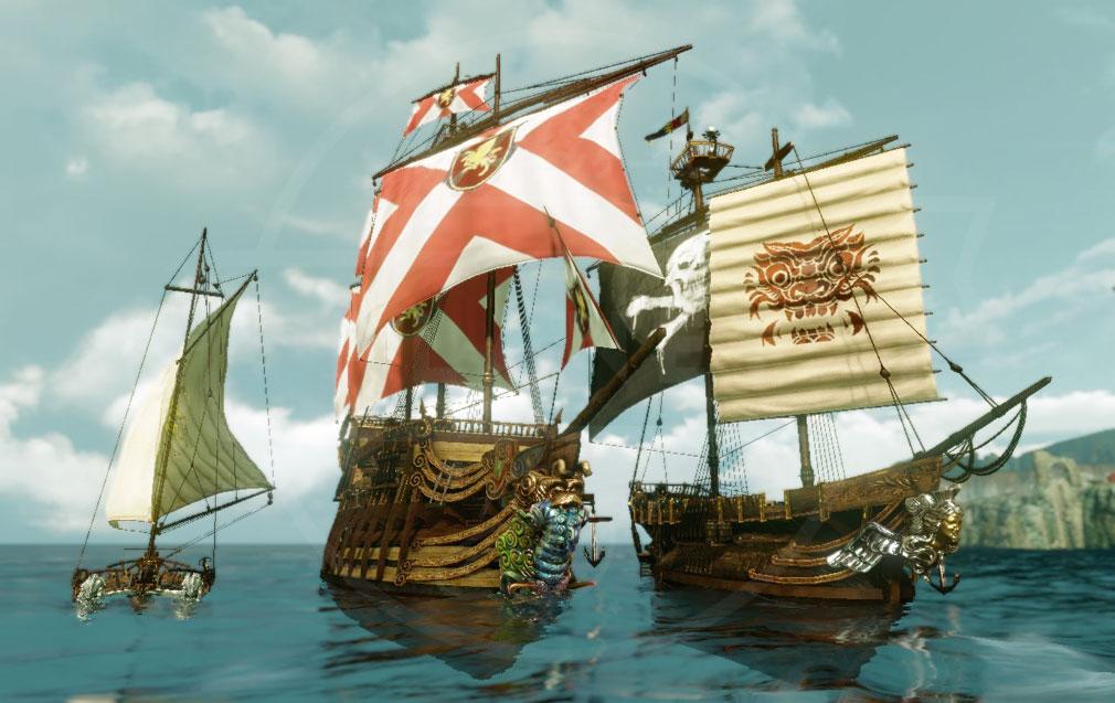 アーキエイジ(ArcheAge) 船作成して海に繰り出せるスクリーンショット
