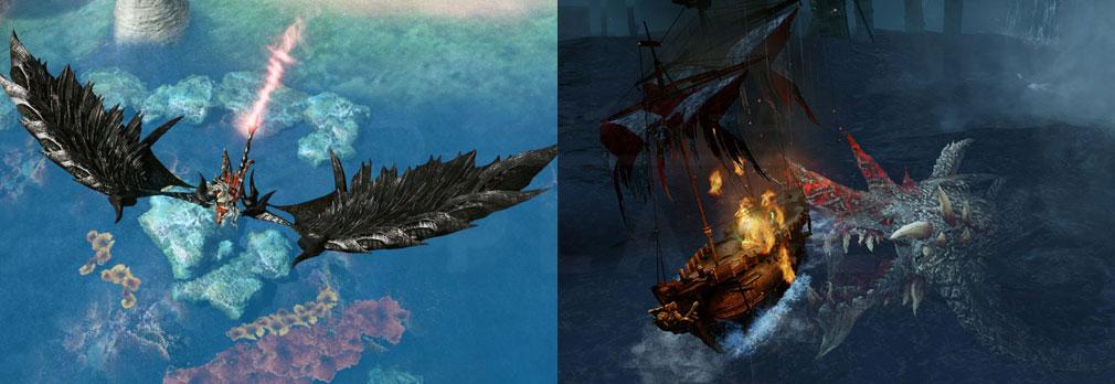 アーキエイジ(ArcheAge) グライダー『漆黒の竜巻』、海上戦場『トレパセス』スクリーンショット