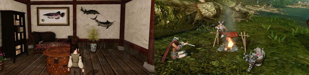アーキエイジ(ArcheAge) 釣った魚の魚拓にして飾れるハウジングインテリア、バーベキュー