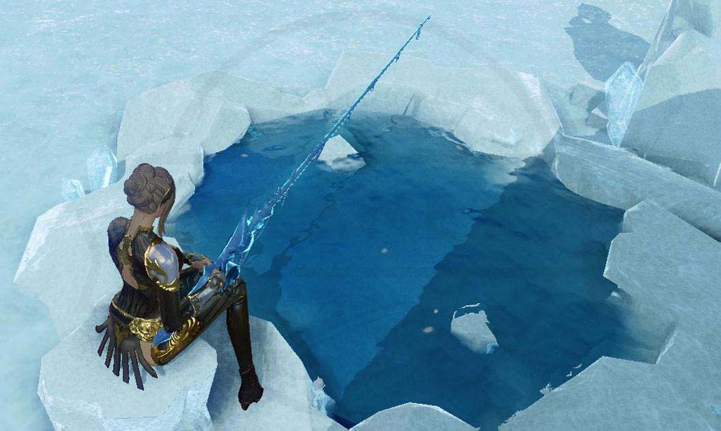アーキエイジ(ArcheAge) 凍った湖で行う釣りスクリーンショット