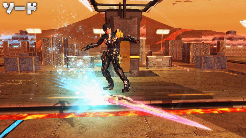 ファンタシースターオンライン2 PHANTASY STAR ONLINE2 (PSO2) バトルアリーナで新たに使用できる『ソード』スクリーンショット