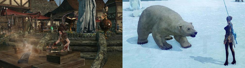 アーキエイジ(ArcheAge) 武器製作、釣り中に白熊遭遇スクリーンショット
