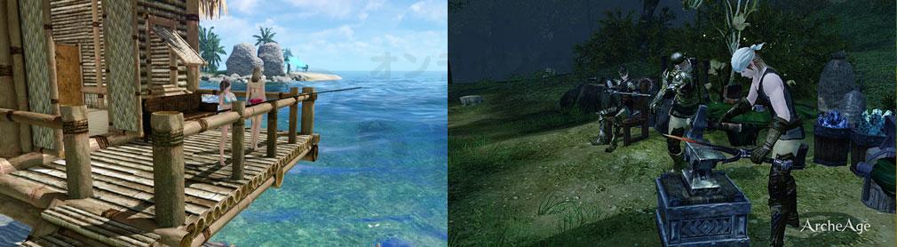 アーキエイジ(ArcheAge) 釣り、製作スクリーンショット