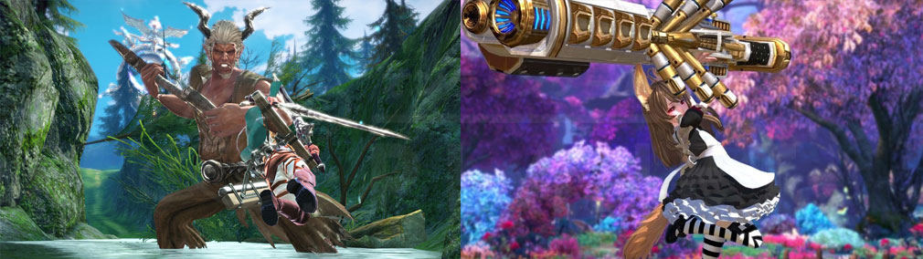 TERA(テラ The Exiled Realm of Arborea) 『進撃の巨人』コラボ、メイド服のヘビーガンナー『エリーン』スクリーンショット