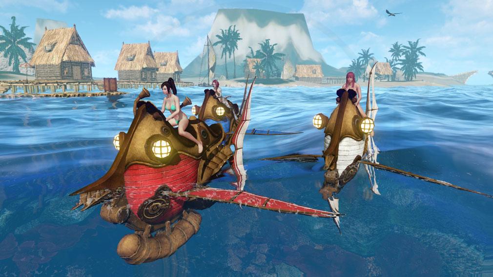 アーキエイジ(ArcheAge) 海上でのプレイスクリーンショット