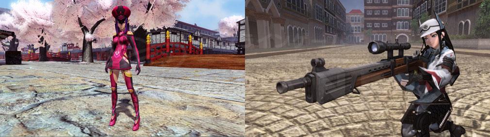 ファンタシースターオンライン2 PHANTASY STAR ONLINE2 (PSO2) 『戦場のヴァルキュリア4』とのコラボの東衣仙妃、カイ・シュレン・レプカでカイ・シュレンの狙撃銃スクリーンショット