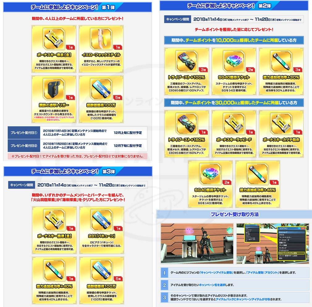 ファンタシースターオンライン2 PHANTASY STAR ONLINE2 (PSO2) 『チームに参加しよう』キャンペーンイメージ