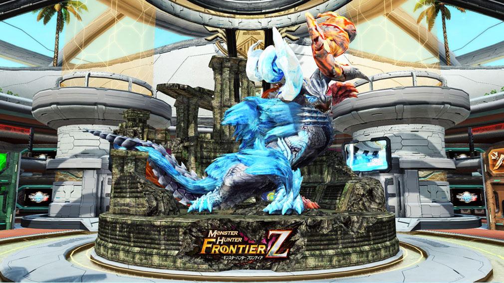 ファンタシースターオンライン2 PHANTASY STAR ONLINE2 (PSO2) 『灼零龍エルゼリオン』は巨大なジオラマオブジェクトでロビーに実装されたスクリーンショット